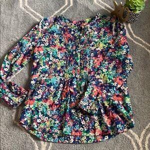 Talbots popover blouse